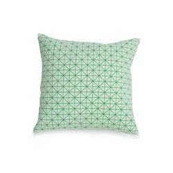 Mika Barr - Geo Origami Kissenbezug, 50 x 50 cm, grün