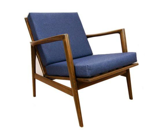 Wonderbaarlijk Mid-Century fauteuil Deens Design - blauw - Buashko Garage ST-89