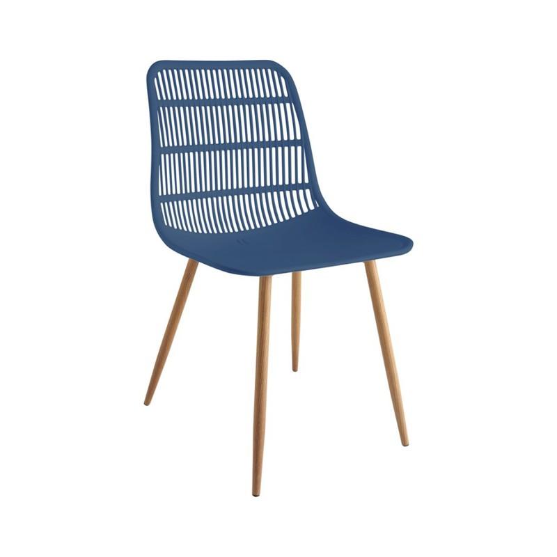 Tamy - Set van 4 stoelen - Blauw -