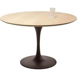 Kare Design Eettafel Invitation Set Oak Zwart 76 x 120 x 120