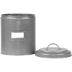 LABEL51 - Opbergblik 10x10x15 cm l S - Industrieel - Antiek grijs