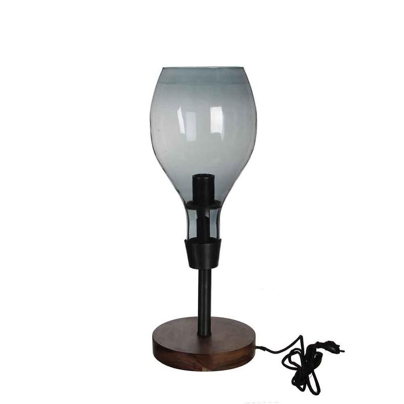 Casa Vivante clark bureaulamp grijs maat in cm: 56 x 20 -