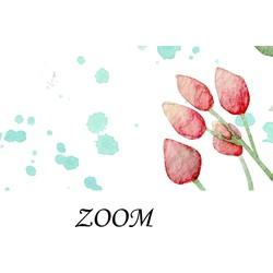 Zelfklevend behang Vintage Bloemen Roze Baby 350x250