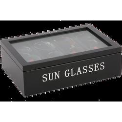 Zonnebrillen doos 4 vaks Avantgarde zwart met zilveren letters
