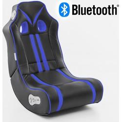 24Designs Racestoel Gamestoel Monaco - Bluetooth & Speakers - Zwart / Blauw - SALE