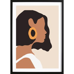 Abstract Girl Art Poster (21x29,7cm)