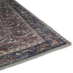 Vintage Vloerkleed Blauw Rood - Urmia - 160 x 230 cm - (M)