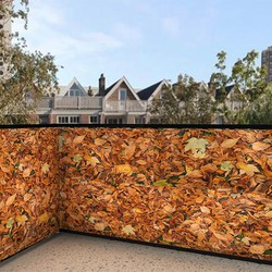 Balkonafscheiding herfst bladeren (100x100cm Dubbelzijdig)