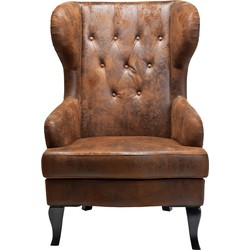 Kare Design Fauteuil Wing - Bruin