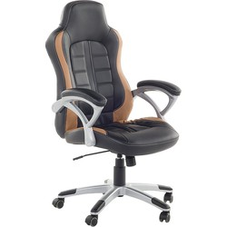 Bureaustoel zwart-lichtbruin - burostoel - gaming stoel - PRINCE