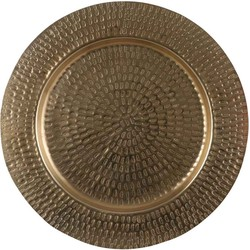 Mica Decorations bord rond goud dia in cm: 43