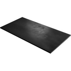Acquabella Base Douchevloer Beton 90x100x3 cm Negro