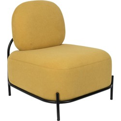 Wants&Needs fauteuil Polly geel 77 x 71,5 x 66