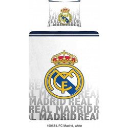 Dekbedovertrek Real Madrid C.F. - Letters - 140x200 + 1 Kussensloop 70x80cm