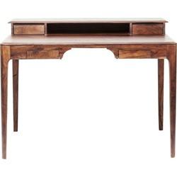Kare Design Bureau Brooklyn Walnut - L110 X B70 X H85 Cm - Sheesham Hout