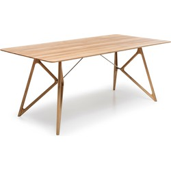 Tink Table - Houten eettafel - Houten tafelblad - Naturel - 200 x 90 cm