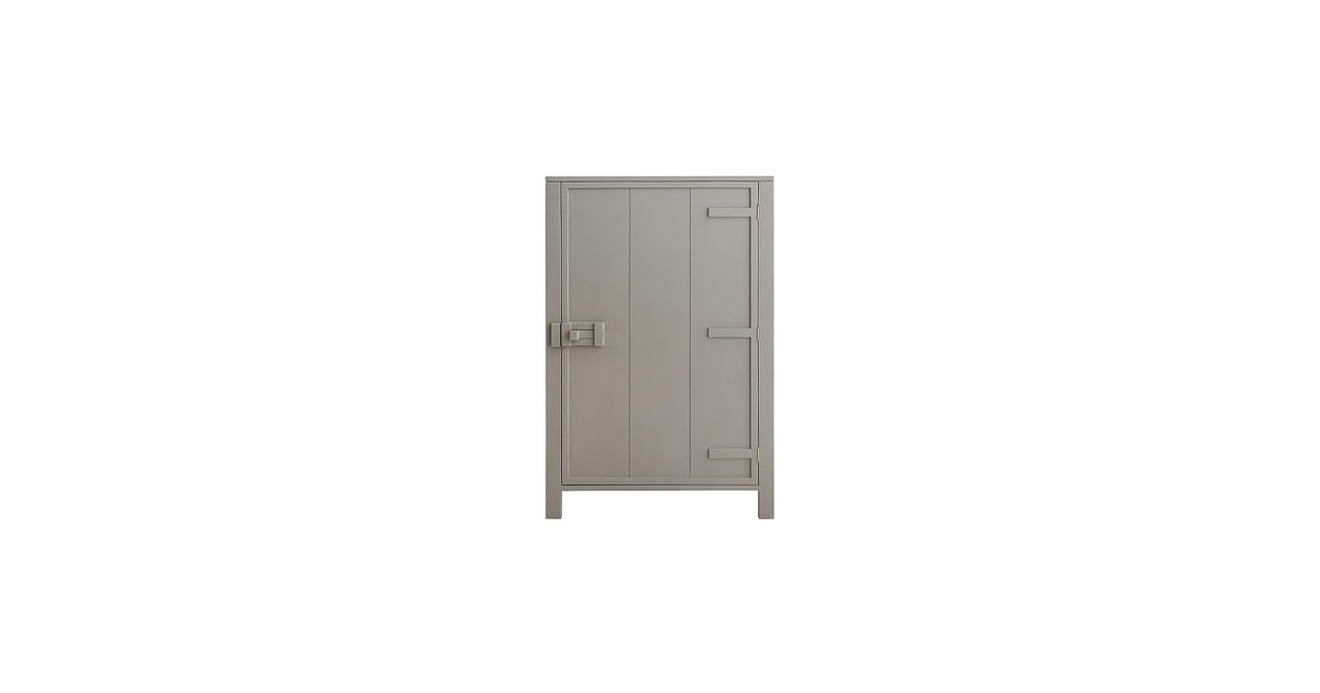 HKliving Wandkast Hout 81 x 122 cm - Taupe