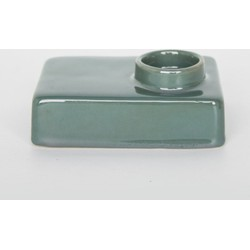Wax light holder stone - Silver pine