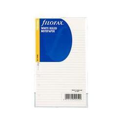 Filofax White Ruled Paper, Personal