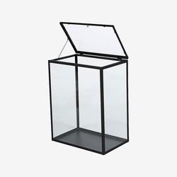 vtwonen Vitrine Zwart/Glas - Small