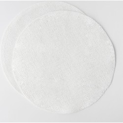 Placemat Paper Round White - Set of 2