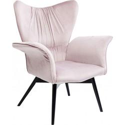 Kare Design - Fauteuil Wall Street - Roze Fluweel