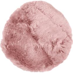 Schapenvacht Rond - ø40 cm - oud roze