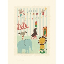 Maileg Poster, Circus Mouse and friends