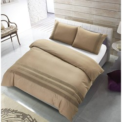 The Supreme Home Collection Avenza Zand Maat: Lits-jumeaux (240 x 220 cm + 2 kussenslopen)