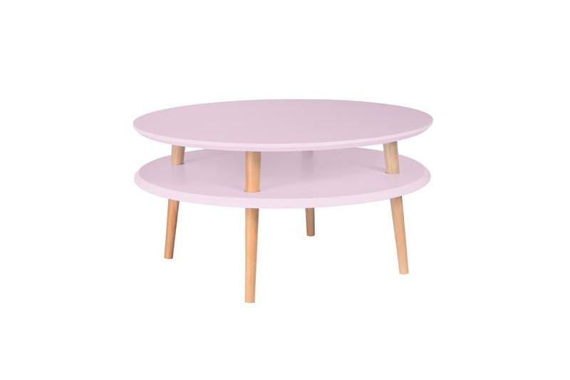 Salontafel UFO70cm diameter roze -