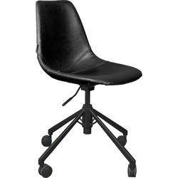 Dutchbone bureaustoel FRANKY BLACK 88,5 x 67,5 x 67,5