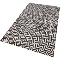 Teppich, bougari, »Karo«, In- und Outdoorgeeignet, gewebt