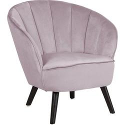Fauteuil roze fluweel DALA