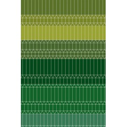 Carpet Moooi Zigzag Green - 200 x 300 cm