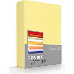 Romanette Double jersey geel 100% katoen 2-persoons 140/150/160x200/210/220