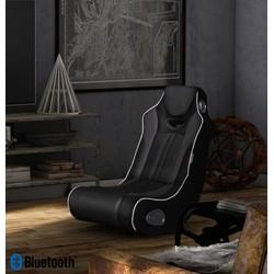 24Designs Racestoel Monza - Gamestoel - Bluetooth & Speakers - Zwart / Grijs