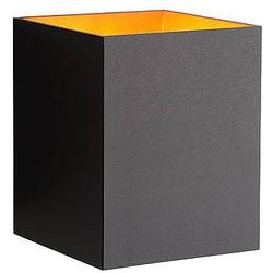 Wandlamp Xera Zwart Goud Vierkant