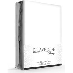 Dreamhouse Hoeslaken Katoen Wit-140 x 200 cm
