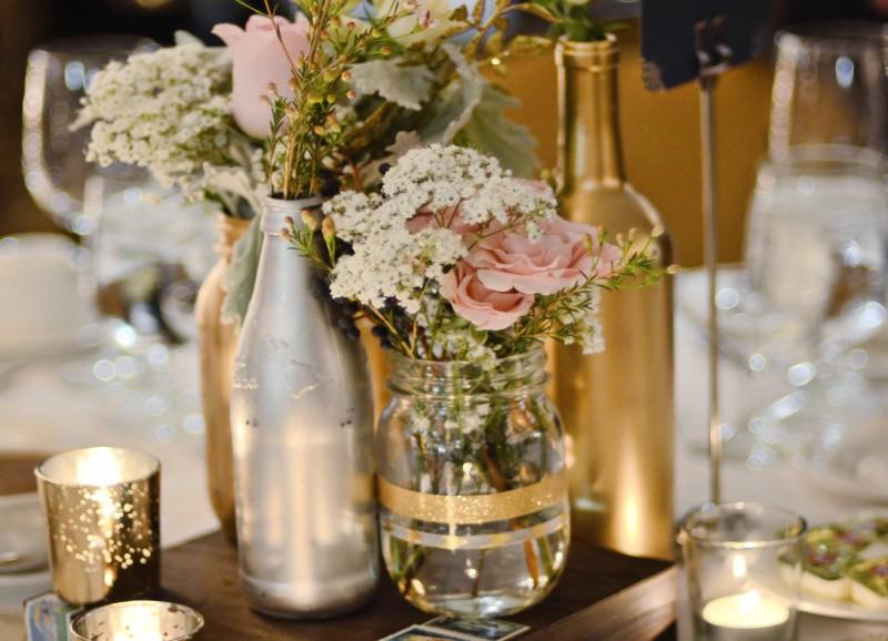DIY: Vase im Punkte oder Streifen Design