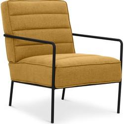 Lanterfant® Loungestoel Cleo - Oker - Relaxstoel - Stalen frame