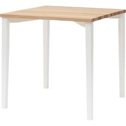 TRIVENTI Tafel klein met wit vierkante poten