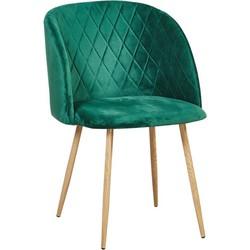Marko stoel - Groen velours - set van 2