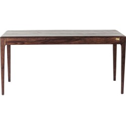 Kare Design Tafel Brooklyn Walnut - L160 X B80 X H76 - Sheesham Hout