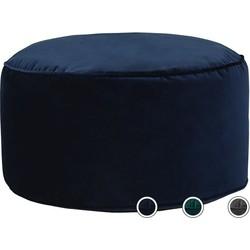 Lux poef, marineblauw fluweel