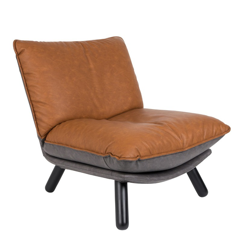 Zuiver fauteuil Lazy Sack LL bruin 81 x 75 x 94 -
