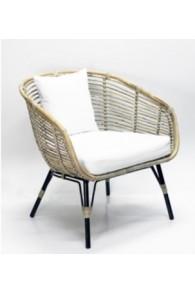 Handgemaakte rieten stoel Luxe - naturel XL -