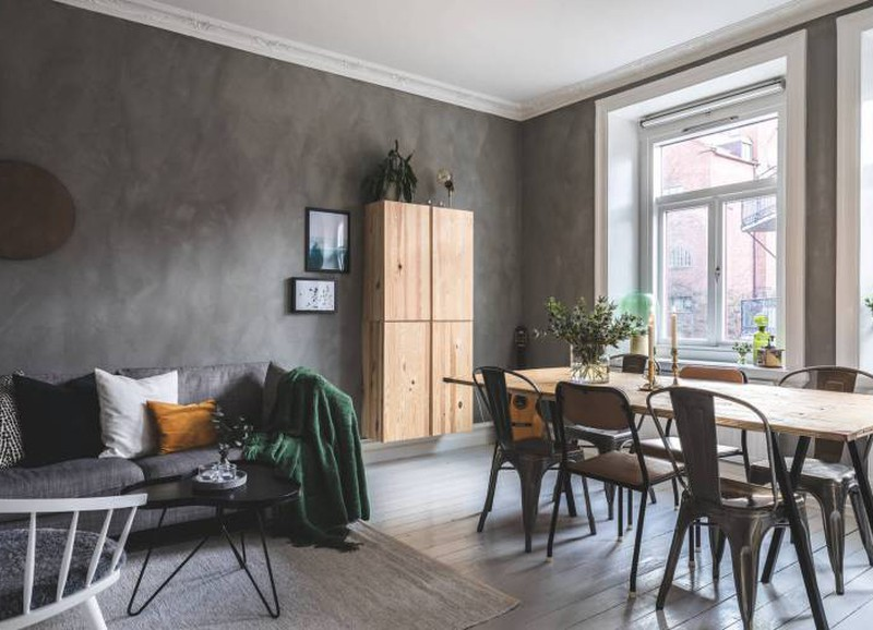 Shop the look: interieur met betonlook op de muur