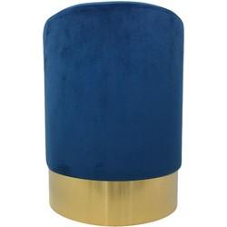 Housevitamin poef velvet blauw