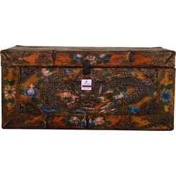 Fine Asianliving [PREORDER WEEK 48] Traditional Tibetan Storage Chest Handmade - Asian Dragon