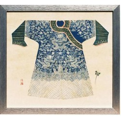 Fine Asianliving Chinees Schilderij Blauwe Kledij